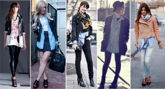 camisa jeans com casaco