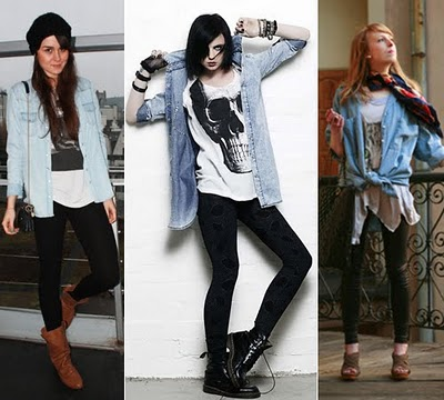 camisa jeans legging 3